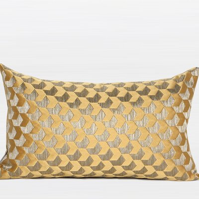 Arrows Pattern Jacquard Lumbar Pillow