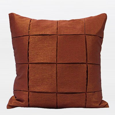 Metallic Throw Pillow Color: Dark Orange
