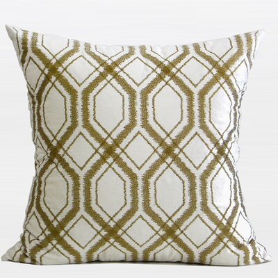 Geometry Pattern Cotton Throw Pillow Color: Wasabi Green