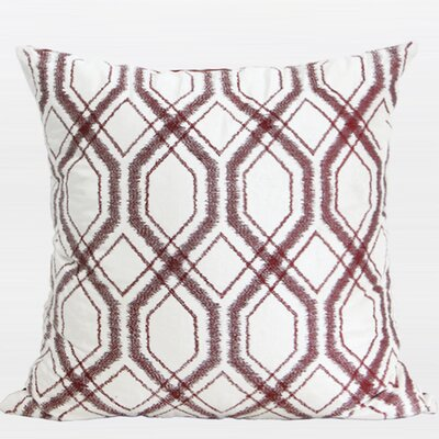 Geometry Pattern Cotton Throw Pillow Color: Red Brown