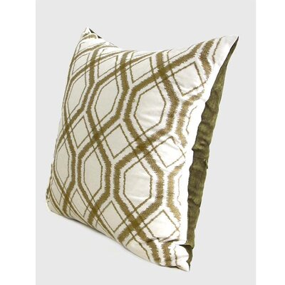 Geometry Pattern Pillow Cover Color: Wasabi Green