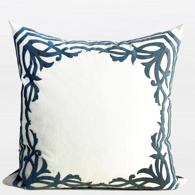 European Frame Embroidered Throw Pillow