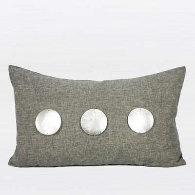 Round Shell Lumbar Pillow Color: Dark Gray