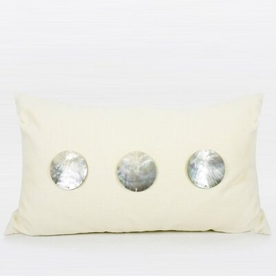 Round Shell Lumbar Pillow Color: Cream