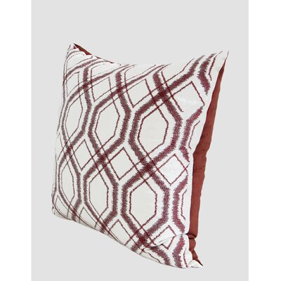 Geometry Pattern Pillow Cover Color: Red Brown