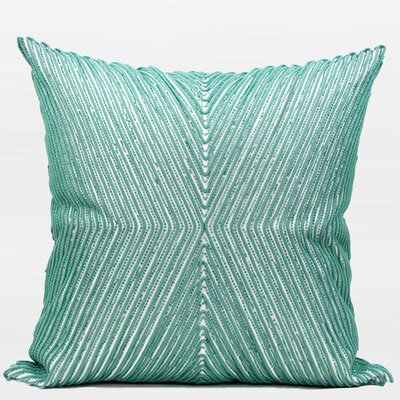 Handmade Textured Beaded Throw Pillow
