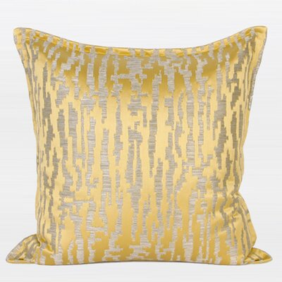 Nonobjective Pattern Jacquard Throw Pillow Color: Yellow