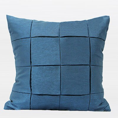 Metallic Throw Pillow Color: Blue