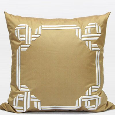 Textured Frame Embroidered Pillow Cover
