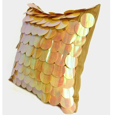 Textured Handmade Sequins Pillow Cover