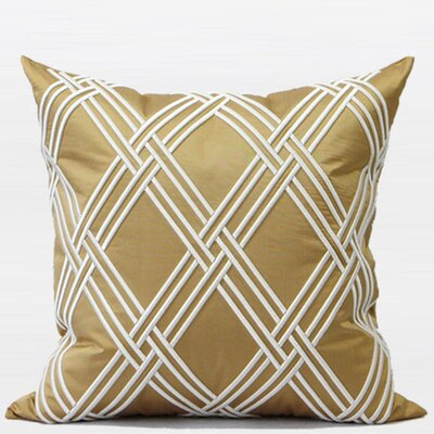 Textured Embroidered Throw Pillow