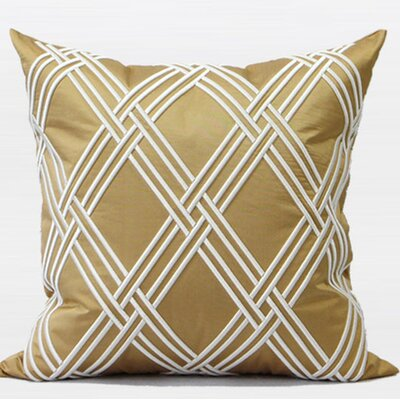 Textured Embroidered Pillow Cover
