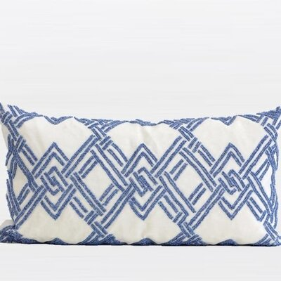 Handmade Textured Beaded Lumbar Pillow