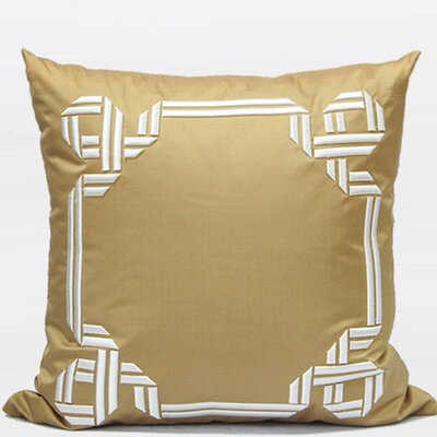 Textured Frame Embroidered Throw Pillow