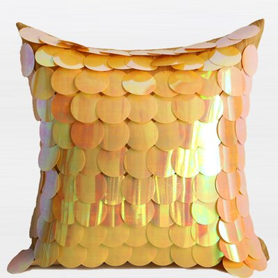 Textured Handmade Sequins Throw Pillow