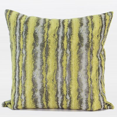 Stripe Pattern Metallic Throw Pillow