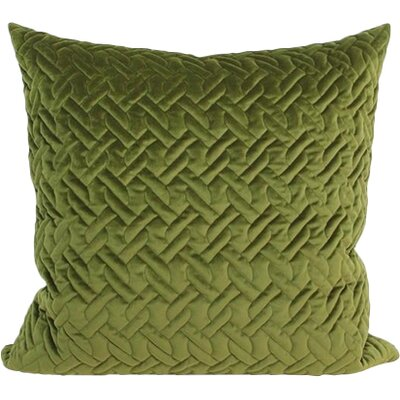 Luxury Braid Textured Quilting Pillow Cover Color: Green