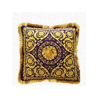 Flower Embellished Throw Pillow