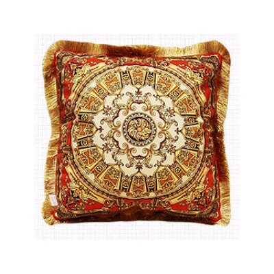 Flower Embellished Pillow Cover Color: Tangerine Gold