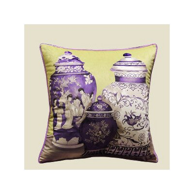 Vase Throw Pillow Color: Purple/Yellow
