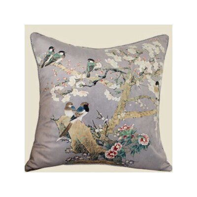 Bird Printing Throw Pillow Color: Purple