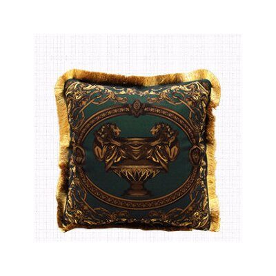 Relief Embellished Throw Pillow