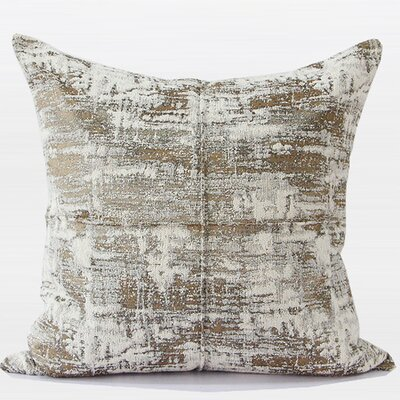 Luxury Chenille Throw Pillow Color: Light Gold