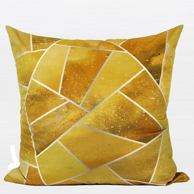 Luxury Geometry Digital Printing Flannel Throw Pillow Color: Yellow