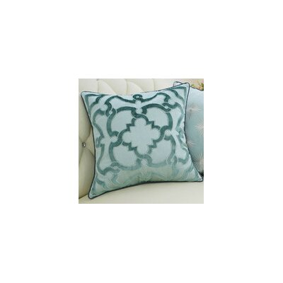 Luxury Moroccan Floral Pillow Cover Color: Green