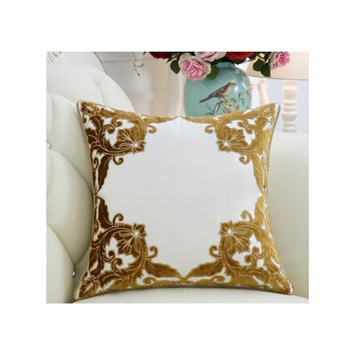 Luxury Detailed Floral Pillow Cover Color: Yellow