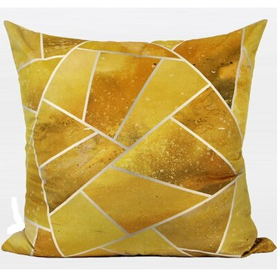 Luxury Geometry Flannel Pillow Cover Color: Yellow