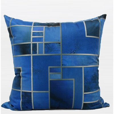 Luxury Geometry Digital Printing Flannel Pillow Cover Color: Blue