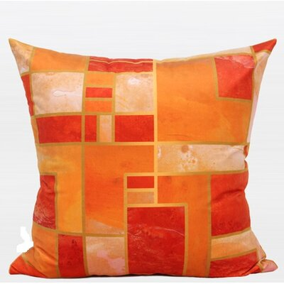Luxury Geometry Digital Printing Flannel Pillow Cover Color: Orange