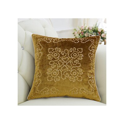 Luxury Embroidered Floral Throw Pillow Cover Color: Yellow
