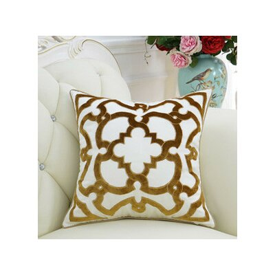 Luxury Moroccan Floral Pillow Cover Color: Yellow