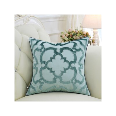Luxury Moroccan Floral Throw Pillow Color: Green