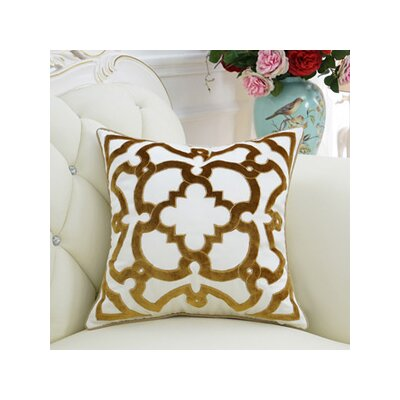 Luxury Moroccan Floral Throw Pillow Color: Yellow
