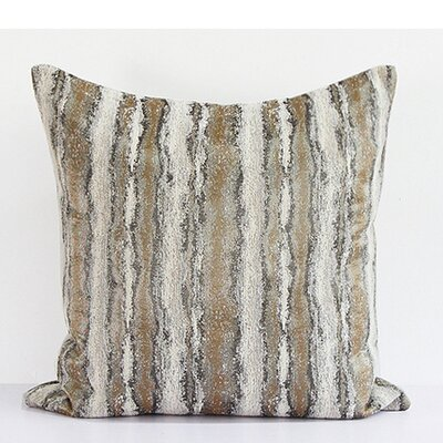 Luxury Stripe Pattern Metallic Chenille Down Feather Insert Throw Pillow