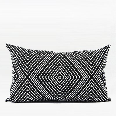 Luxury Diamond Embroidered Down Feather Insert Lumbar Pillow