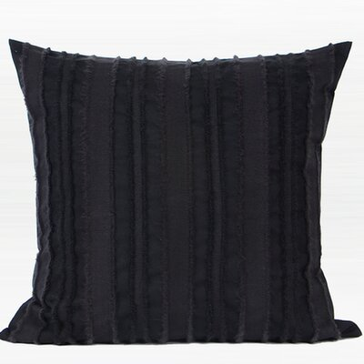 Luxury Stripe Textured 100% Cotton Throw Pillow