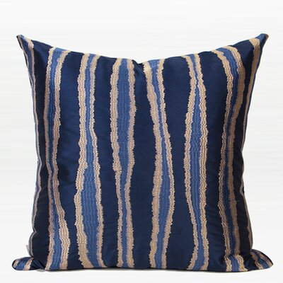 Luxury Wave Stripe Embroidered Throw Pillow