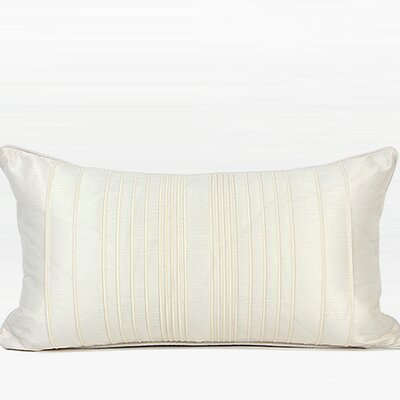 Luxury Striped Textured Down Feather Insert Lumbar Pillow