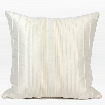 Luxury Striped Textured Down Feather Insert Throw Pillow