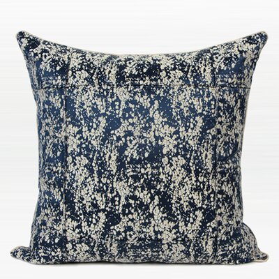 Luxury Abstract Pattern Frame Jacquard Down Feather Insert Throw Pillow Color: Blue