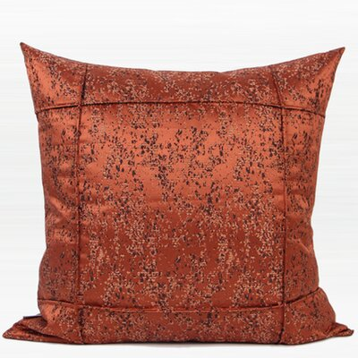Luxury Abstract Pattern Jacquard Throw Pillow Color: Red Brown