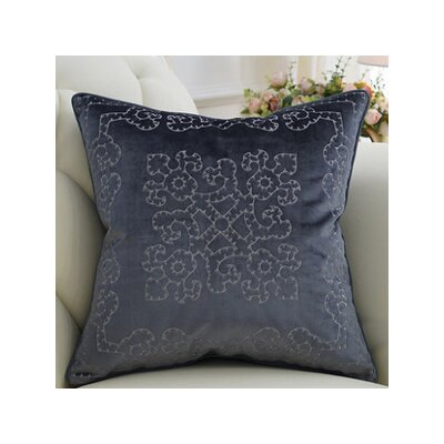 Mattox Embroidered Floral Throw Pillow Fill Material: Down/Feather