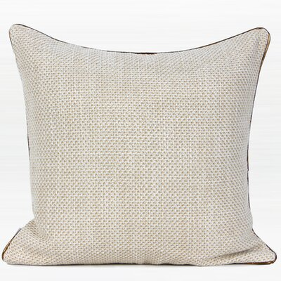 Larisa Woven Solid Throw Pillow Fill Material: Polyester/Polyfill