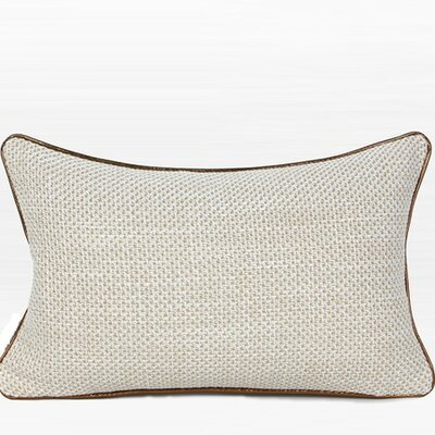 Larisa Woven Solid Lumbar Pillow Fill Material: Down/Feather