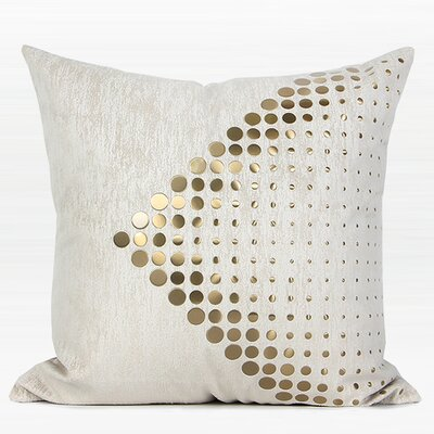 Larisa Textured Dots Arrow Pattern Square Pillow Cover