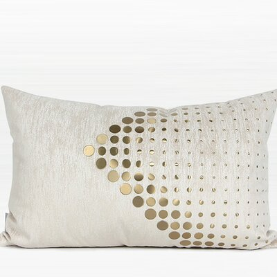 Larisa Textured Dots Arrow Pattern Lumbar Pillow Fill Material: Down/Feather
